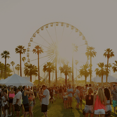 Indio Polo Fields Ferris wheel during sunset